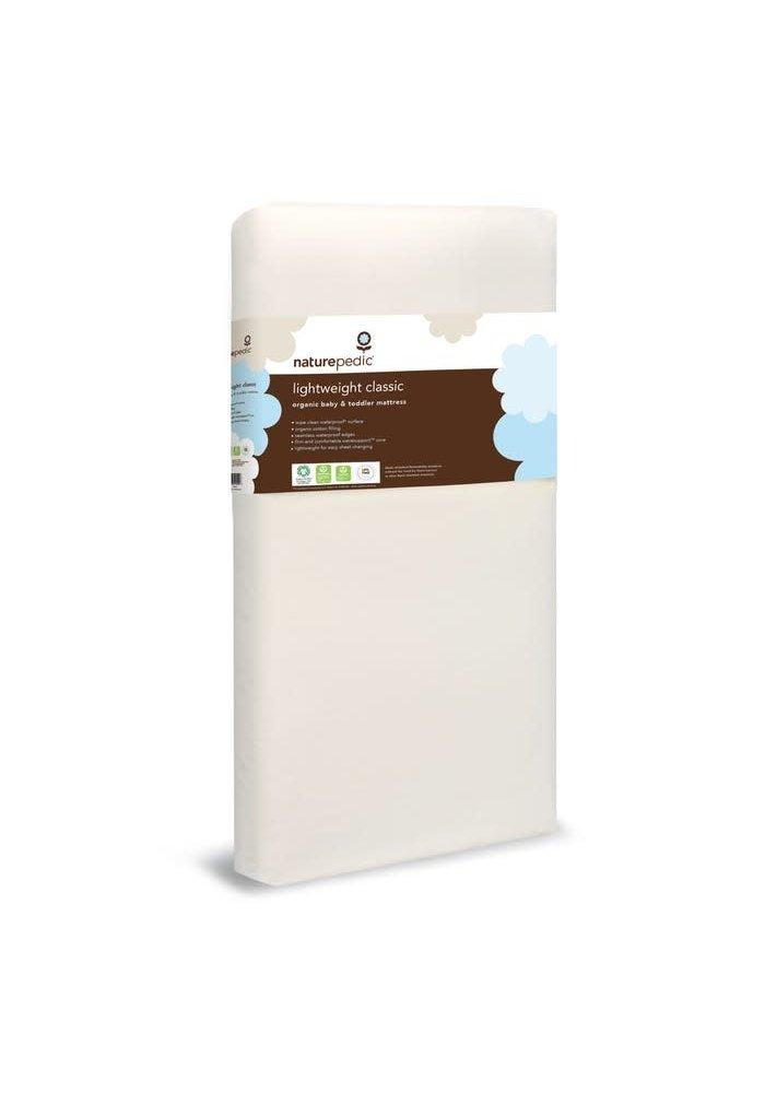"Naturepedic Crib Mattres Organic Cotton Lightweight Classic 28"" x 52"" x 6"""