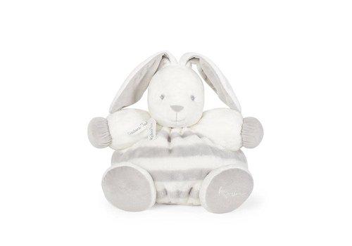 "Kaloo Kaloo Bebe Pastel Chubby Rabbit Grey and Cream"" Toy (Large)"