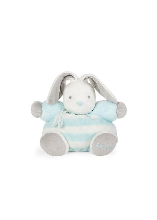 "Kaloo Kaloo Bebe Pastel Chubby Rabbit Aqua and Cream"" Toy (Medium)"
