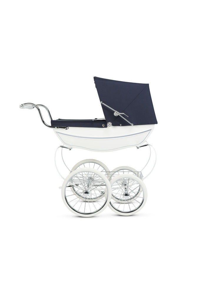 Silver Cross Doll Carriage Limited Edition - White/Navy