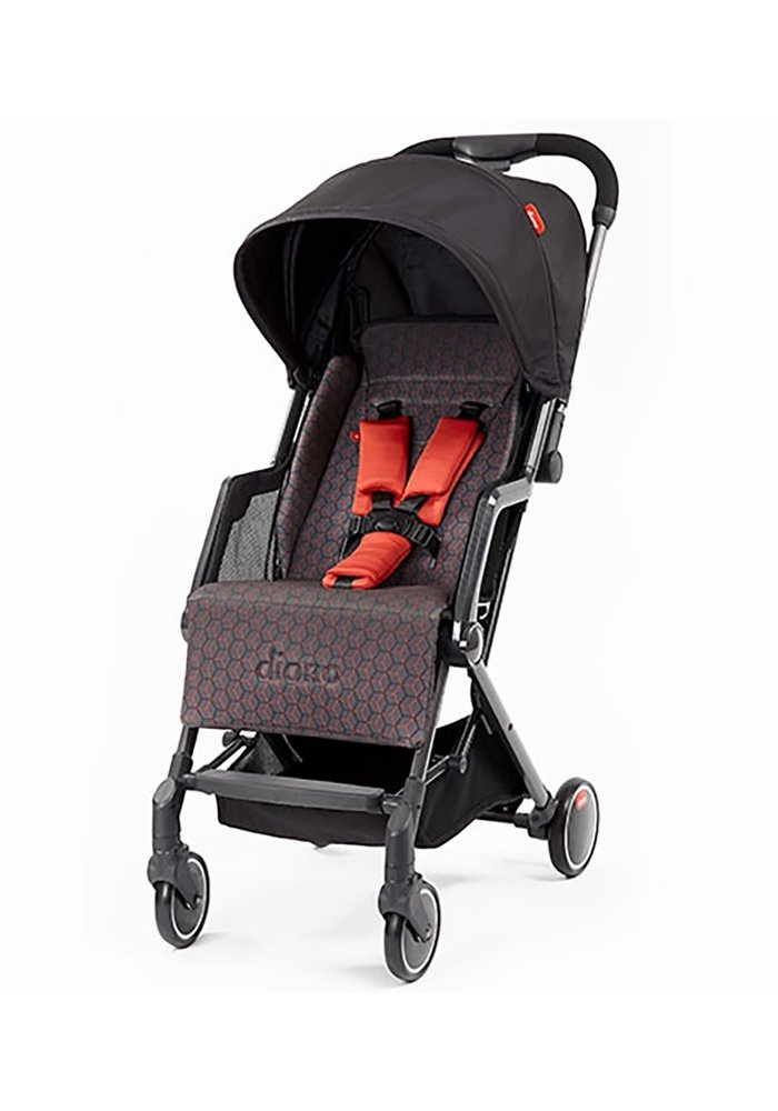 Diono Traverze Editons Compact Stroller In Charcoal Copper Hive