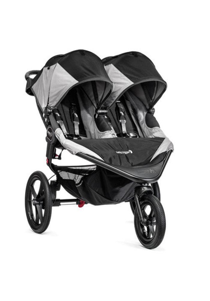 Baby Jogger Swivel Summit X3 Double Black-Gray