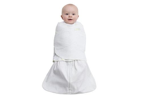 Halo Halo Sleepsack Swaddle 100% Cotton Sage Pin Dot In Newborn
