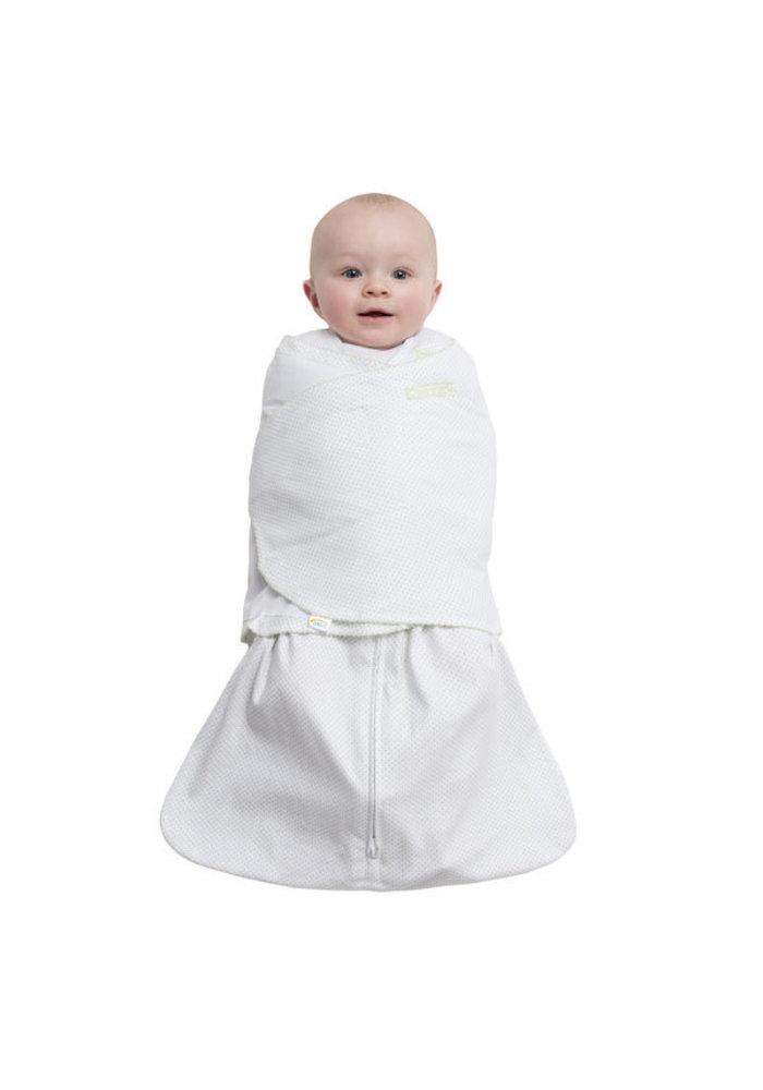 Halo Sleepsack Swaddle 100% Cotton Sage Pin Dot In Newborn