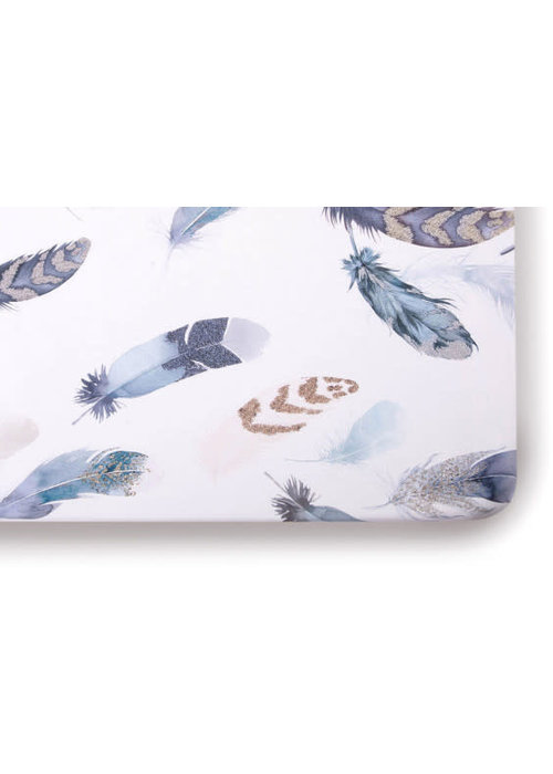 Oilo Oilo Crib Sheet In Featherly (Jersey Fabric)