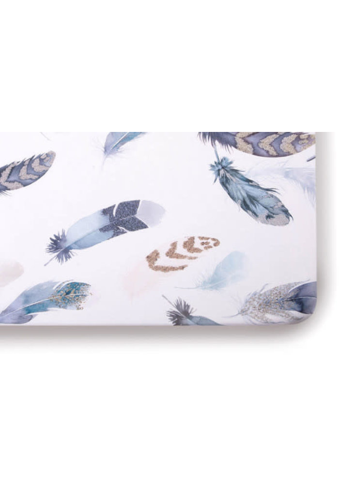 Oilo Crib Sheet In Featherly (Jersey Fabric)