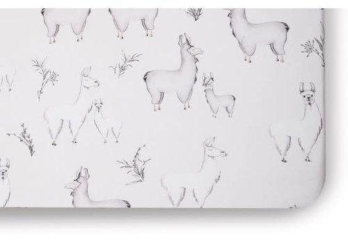 Oilo Oilo Crib Sheet In Llama (Jersey Fabric)