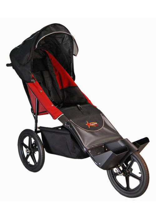 Adaptive Star Adaptive Star Axiom Endeavour 4 Indoor and Outdoor Mobility Push Chair In Red