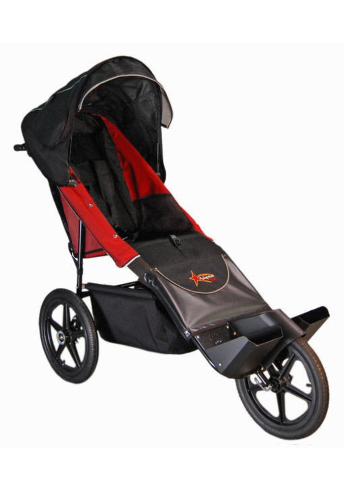 Adaptive Star Axiom Endeavour 4 Indoor and Outdoor Mobility Push Chair In Red