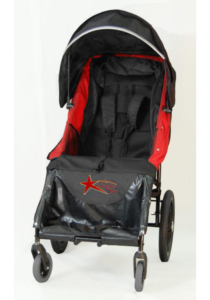 Adaptive Star Axiom Lassen 3 Indoor and Outdoor Mobility Push Chair In Red