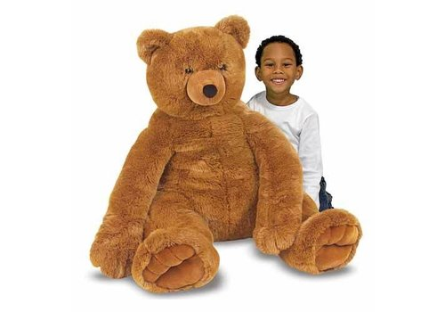 Melissa And Doug Melissa And Doug Plush Jumbo Brown Teddy Bear