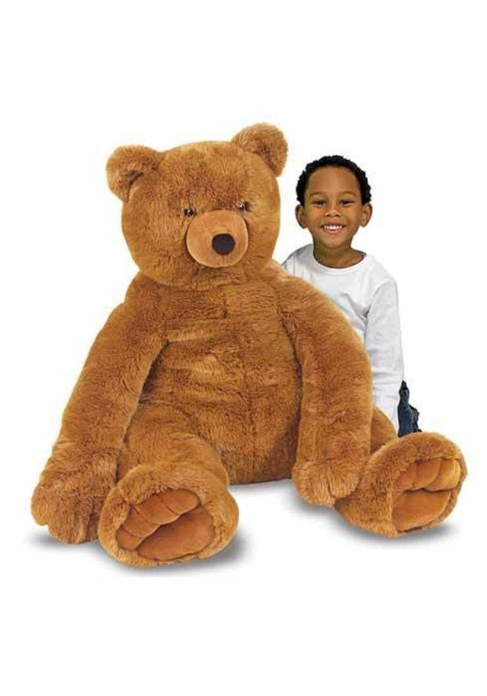 Melissa And Doug Plush Jumbo Brown Teddy Bear