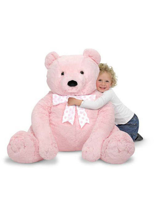 Melissa And Doug Melissa And Doug Plush Jumbo Pink Teddy Bear