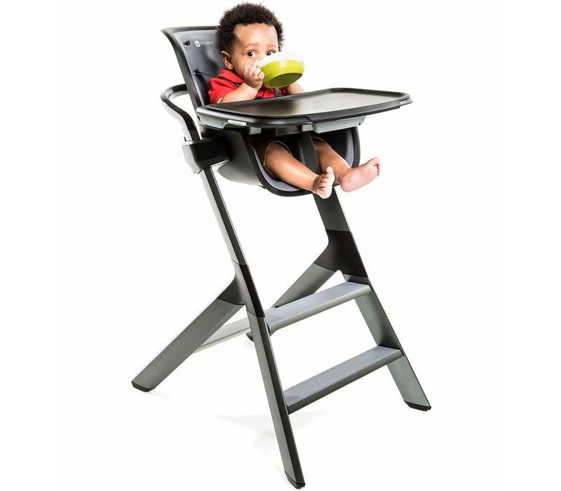 4 moms High Chair In Black- Grey