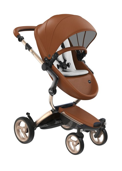 Mima Kids Mima Kids Xari stroller Gold Chassis Camel Seat Snow White Starter Pack