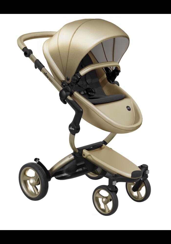 Mima Kids Xari stroller Gold Chassis Gold Seat Black Starter Pack