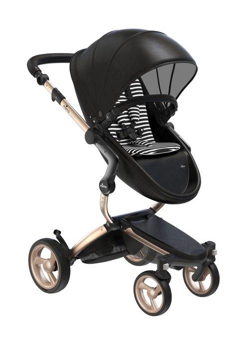 Mima Kids Mima Kids Xari stroller Gold Chassis Black Seat Black & White Starter Pack