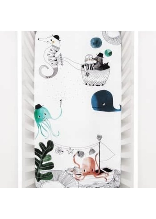 Rookie Humans Rookie Humans Fitted Crib Sheet In Underwater Love