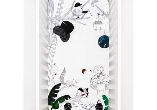 Rookie Humans Rookie Humans Fitted Crib Sheet In Woodland Dreams