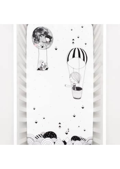 Rookie Humans Rookie Humans Fitted Crib Sheet In Frieda & The Balloon