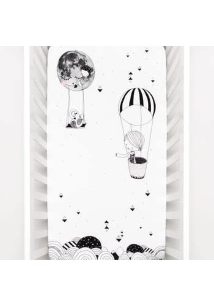 Rookie Humans Fitted Crib Sheet In Frieda & The Balloon