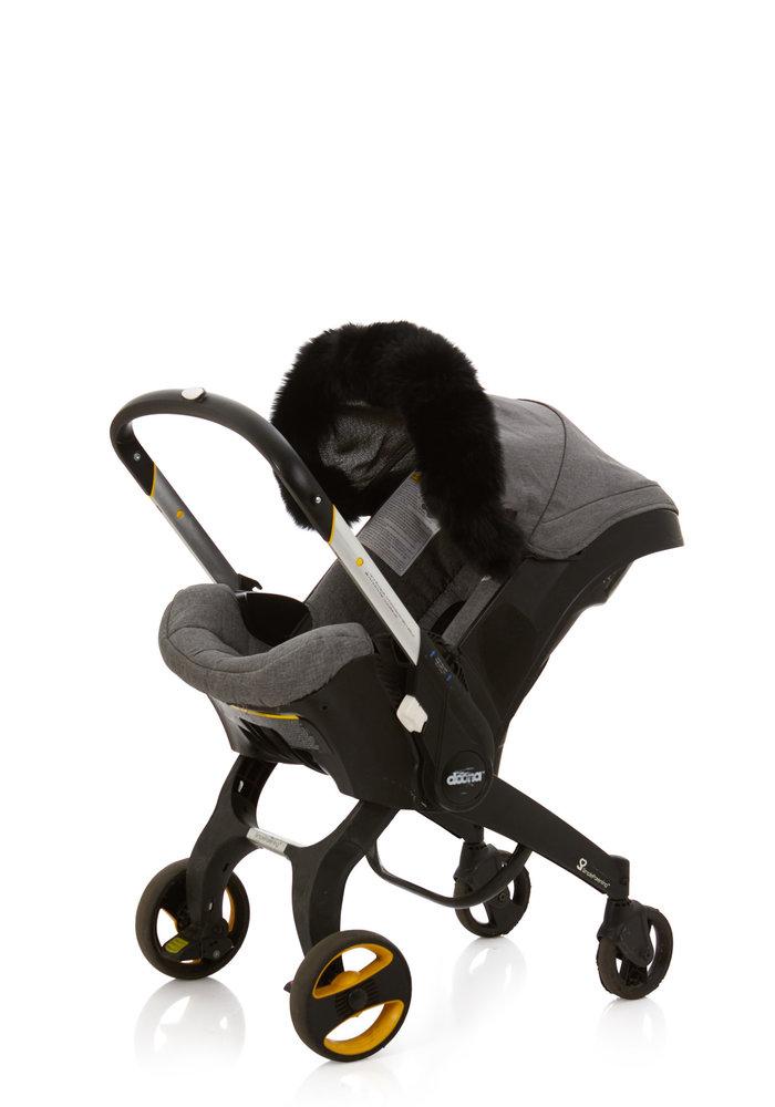 Baby Frr Fur For Doona In Black