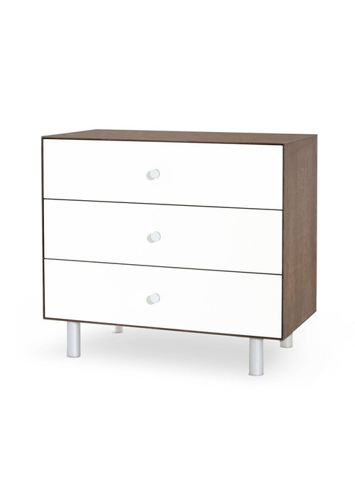 Oeuf Oeuf Classic 3 Drawer Dresser In Walnut/ White