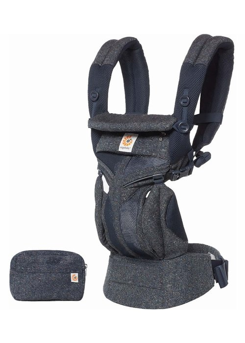 ERGObaby Ergo Baby Omni 360 Cool Air Mesh Baby Carrier All-In Blue Tweed