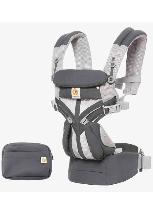 ERGObaby Ergo Baby Omni 360 Cool Air Mesh Baby Carrier All-In Carbon Grey