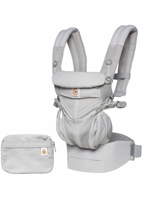 ERGObaby Ergo Baby Omni 360 Cool Air Mesh Baby Carrier All-In Pearl Grey