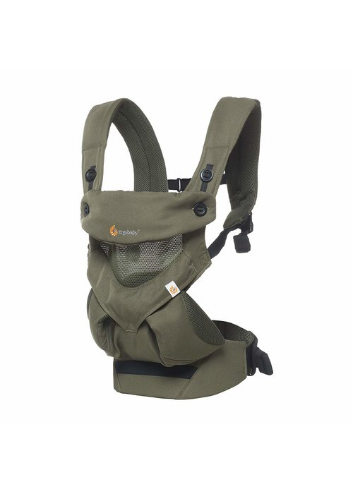 ERGObaby Ergo Baby 360 Cool Air Mesh Baby Carrier In Khaki Green