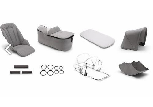 Bugaboo Bugaboo Lynx Style Set Complete In Mineral Light Grey