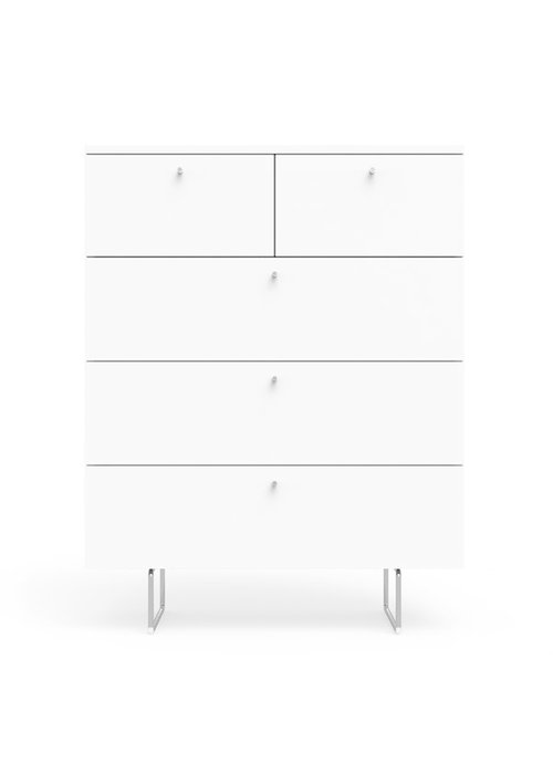 Spot On Square Spot On Square Alto 5 Drawer Dresser In White
