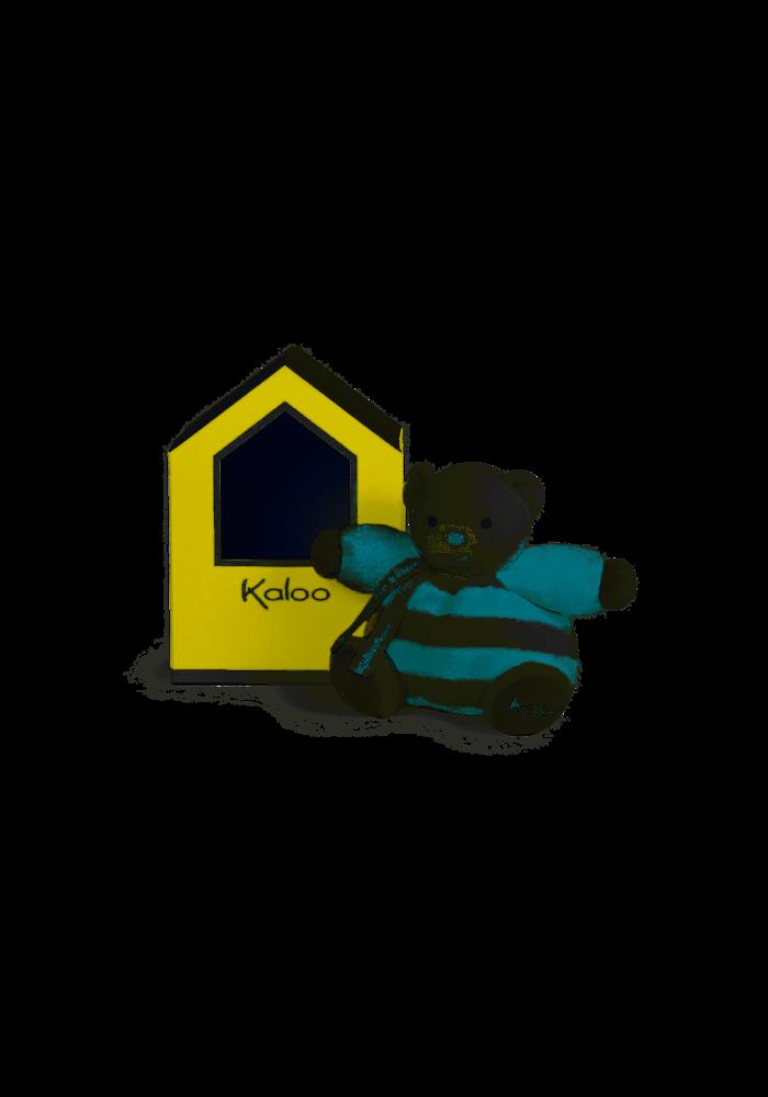 """Kaloo Bebe Pastel Chubby Bear Aqua and Cream"""" Toy (Small)"""