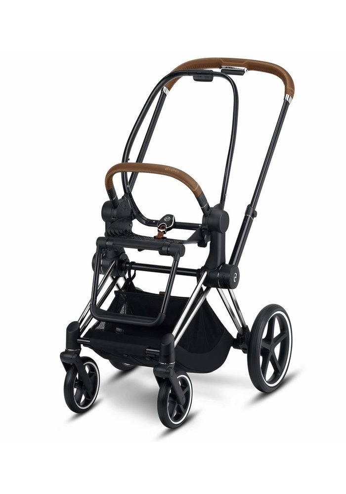 2020 Cybex PRIAM 3 Frame Included Seat Hardpart In Chrome/Brown Handle