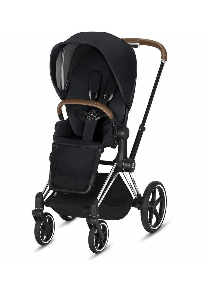 2020 Cybex Priam 3 Stroller - Chrome/Brown/Premium Black