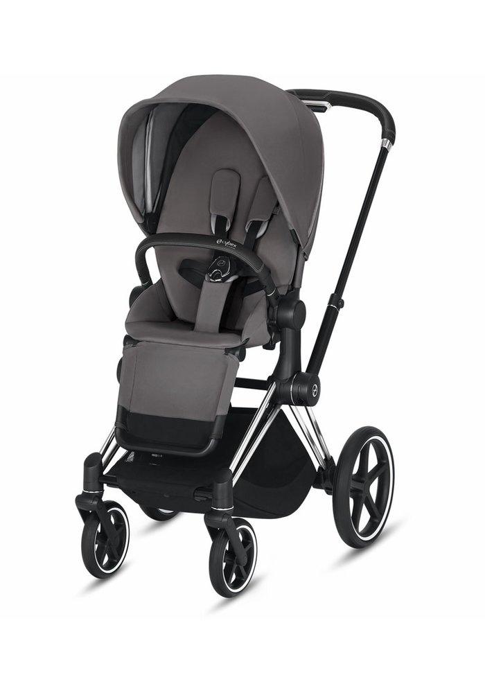 2020 Cybex Priam 3 Stroller - Chrome/Black/Manhattan Grey