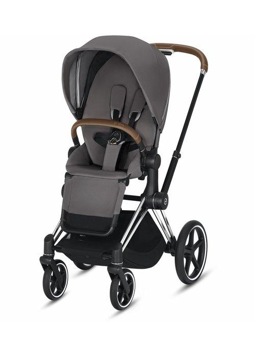 Cybex 2020 Cybex Priam 3 Stroller - Chrome/Brown/Manhattan Grey
