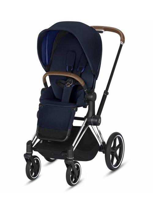 Cybex 2020 Cybex Priam 3 Stroller - Chrome/Brown/Indigo Blue