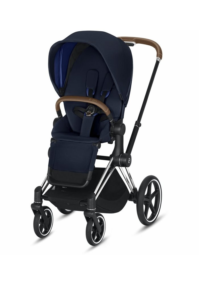 2020 Cybex Priam 3 Stroller - Chrome/Brown/Indigo Blue
