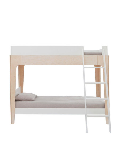 Oeuf Oeuf Perch Collection Twin Bunk Bed In White/ Birch