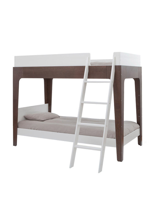 Oeuf Oeuf Perch Collection Twin Bunk Bed In White/ Walnut