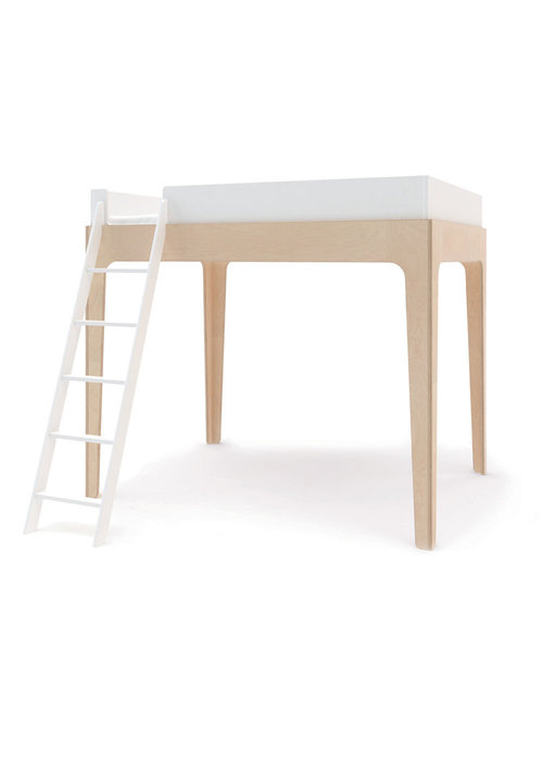 Oeuf Oeuf Perch Collection Full Size Loft Bed In White/Birch