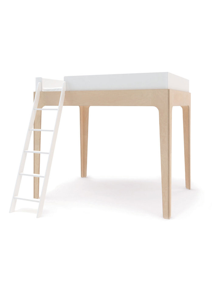 Oeuf Perch Collection Full Size Loft Bed In White/Birch