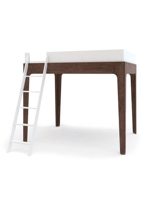 Oeuf Oeuf Perch Collection Full Size Loft Bed In White/Walnut