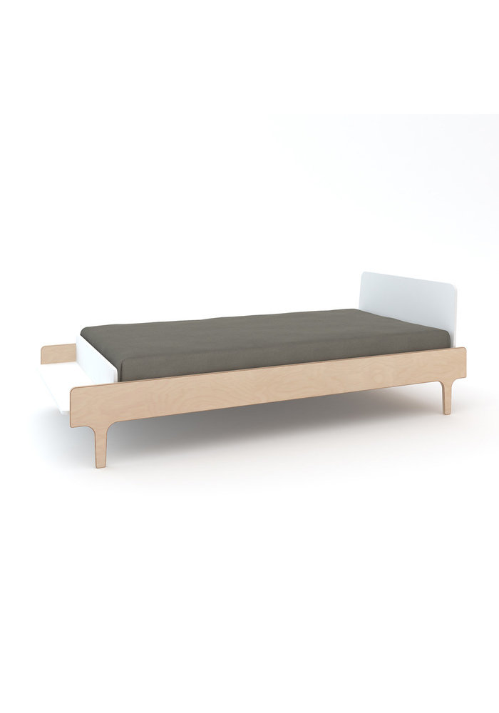 Oeuf River Collection Twin Bed In White/Birch