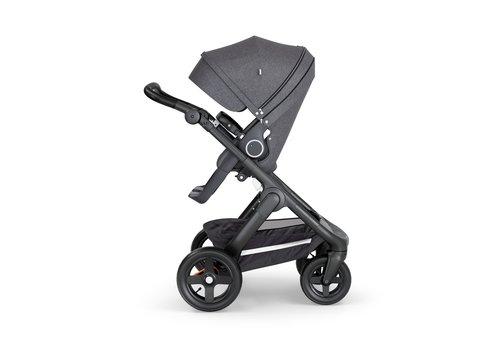 Stokke Stokke Trailz Black Frame- Black Handle Stroller With Terrain Wheels   Black Melange