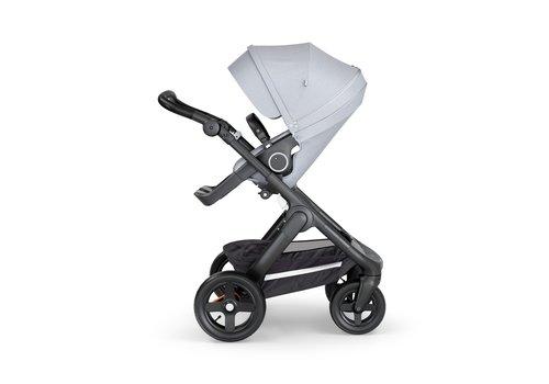 Stokke Stokke Trailz Black Frame- Black Handle Stroller With Terrain Wheels Grey Melange
