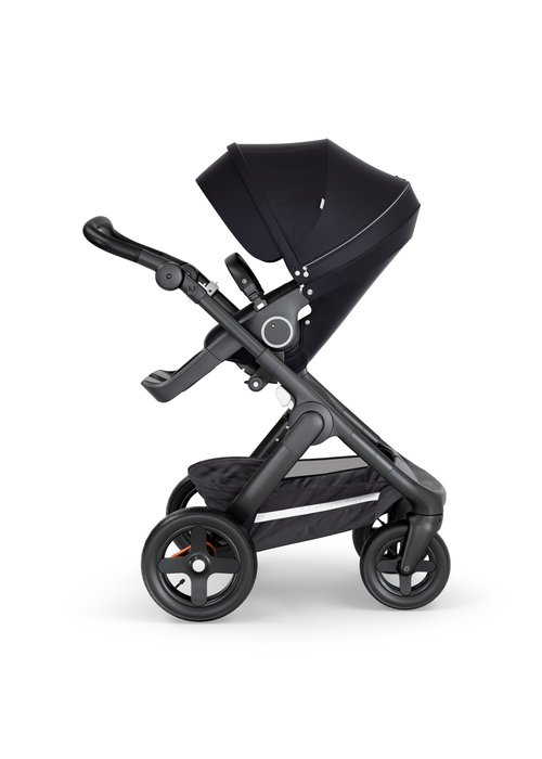 Stokke Stokke Trailz Black Frame- Black Handle Stroller With Terrain Wheels Black