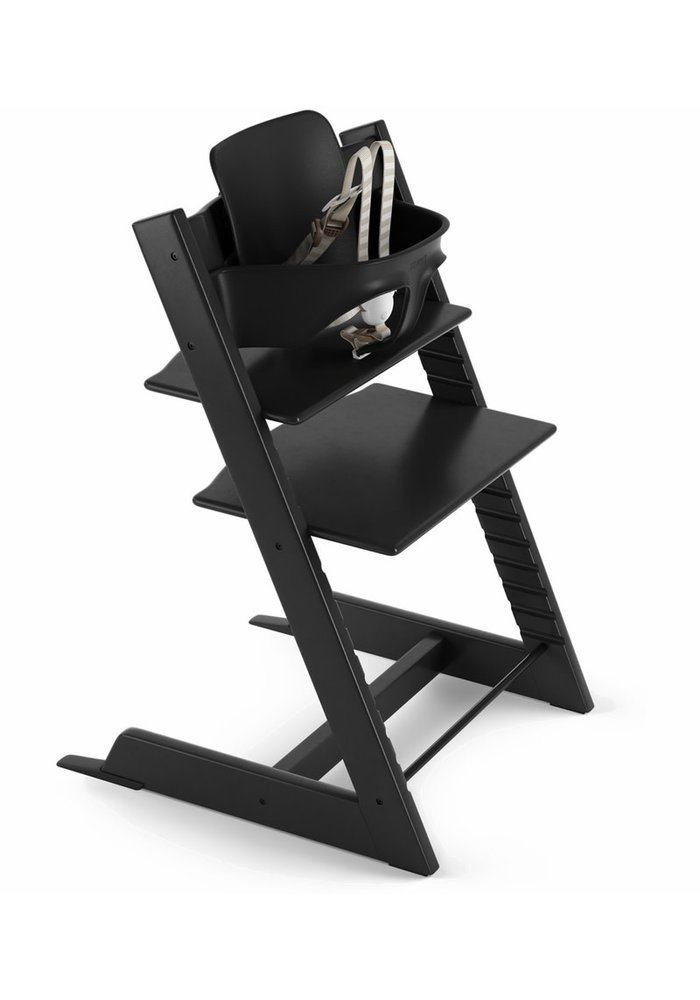 Stokke Tripp Trapp High Chair Set- In Black (Includes, Chair, Baby Set, Tray)